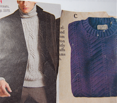 Sweater clippings
